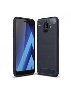 Samsung Galaxy A6 (2018) karbon mintás tok - KÉK