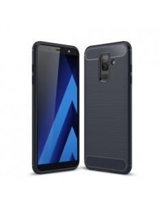 Samsung Galaxy A6 Plus (2018) karbon mintás tok - KÉK