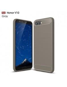 Huawei Honor V10 / View 10 karbon mintás tok - SZÜRKE