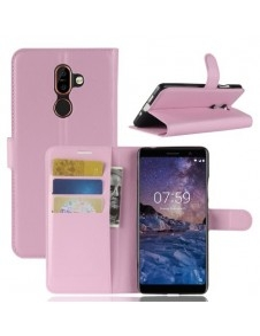 Notesz tok Nokia 7 plus telefonhoz - RÓZSASZÍN