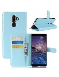 Notesz tok Nokia 7 plus telefonhoz - KÉK