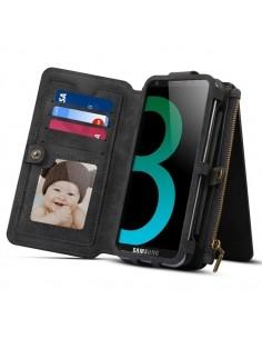 DIBASE multifunkciós telefontok Samsung Galaxy S9 / Galaxy A8 (2018) telefonhoz - FEKETE