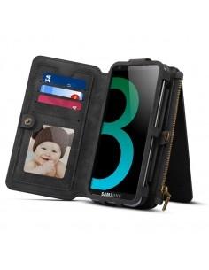 DIBASE multifunkciós telefontok Samsung Galaxy S9 Plus / Galaxy A8 Plus (2018) telefonhoz - FEKETE