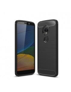 Motorola Moto E5 Plus karbon mintás tok - FEKETE