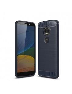 Motorola Moto E5 Plus karbon mintás tok - KÉK