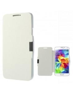 Oldalra nyíló mágneszáras notesz telefontok Samsung Galaxy S5 telefonhoz - fehér