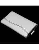 Fekete varrásos fehér telefontok kihúzóval - 7,5x13,5 cm
