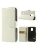 Oldalra nyíló mágneszáras notesz telefontok Samsung Galaxy S5 mini telefonhoz - fehér