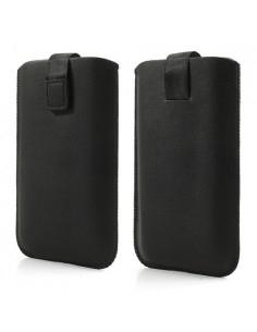 Fekete telefontok kihúzóval - 9,5x16,5 cm