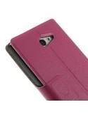 Pink színű két ablakos tok Sony Xperia M2 / M2 Dual készülékhez