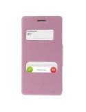 Rózsaszín színű két ablakos tok Sony Xperia M2 / M2 Dual készülékhez