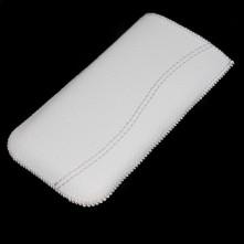Fehér varrásos fehér telefontok kihúzóval - 8x15cm