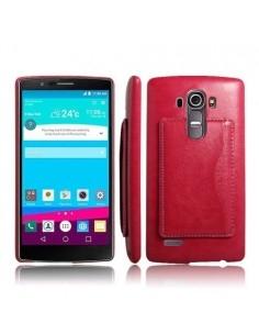 Bőr tapintású piros tok LG G4 készülékhez