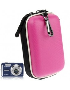 Pink színű digitális fényképezőgép tartó műbőrből - 12 x 7 x 4,5 cm (mini)