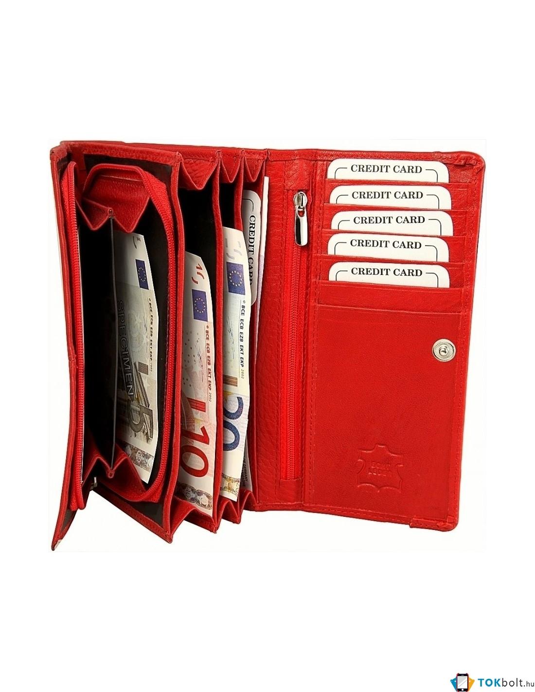 007e7ab3b745 Nagyméretű női pénztárca - PIROS - P495075050008