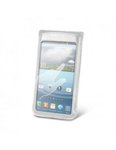 Fehér színű telefontok érintés érzékeny / átlátszó ablakkal - 12 * 7 cm