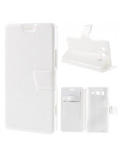 Oldalra nyíló fehér tok Microsoft Lumia 950 telefonhoz