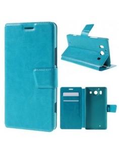 Oldalra nyíló kék tok Microsoft Lumia 950 telefonhoz