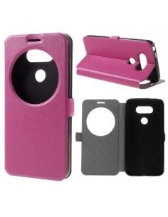 Pink színű körablakos telefontok LG G5 telefonhoz