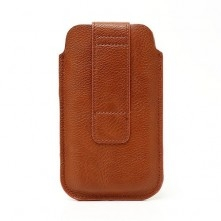 Barna színű telefontok - 7 x 14 cm