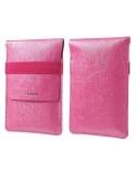 ZHUDIAO pink színű dizájnos tartó tasak - 15,5 x 10 cm-es belső résszel