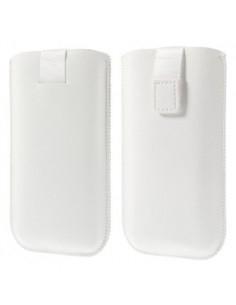Fehér színű műbőr telefontok - 145 x 78 mm