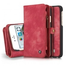 CASEME notesz tok Apple iPhone 6/6s telefonhoz - PIROS