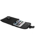 Övre fűzhető csatos mobiltelefon tok 5.5 inches készülékekhez - FEKETE