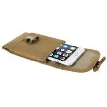 Övre fűzhető csatos mobiltelefon tok 5.5 inches készülékekhez - BARNA