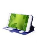 Két ablakos notesz tok Huawei P10 Plus telefonhoz - KÉK