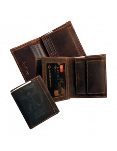Vitruvian Man logós bőr pénztárca - Adam - LandLeder - 242