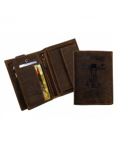 Vitruvian Man logós bőr pénztárca - LandLeder - 268