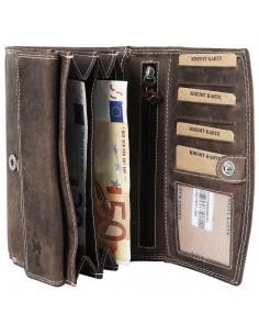 Nagyméretű pénztárca - BARNA - P495710957001-B