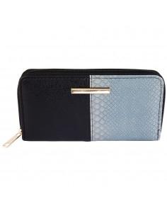 Fekete -fehér női pénztárca - Méret 19 x 10 cm - 494039903002