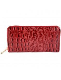 Nagyméretű piros színű női pénztárca - Méret 20 x 10 cm - 494073755002
