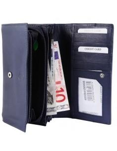 Accent női pénztárca valódi bőrből - KÉK - 495069530008