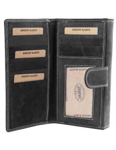 Accent női pénztárca valódi bőrből - FEKETE - 495710951002