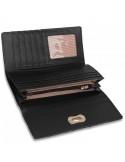 Forgózáras női pénztárca - PLSP1055 - FEKETE