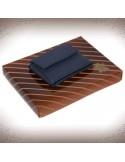 Mini kék bőr pénztárca - 11136