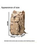 INDEPMAN túra hátizsák 43 x 26 x 23 cm - FEKETE