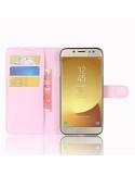 Rózsaszín notesz tok Samsung Galaxy J7 (2017) telefonhoz