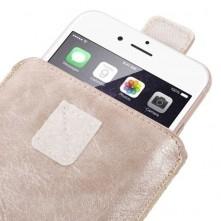 Univerzális zárható telefontok kihúzóval 16.5 x 9.5 cm - ARANY