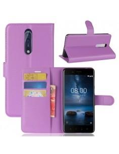 Notesz tok Nokia 8 készülékhez - LILA