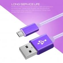USB kábel - adatkábel - fonott dizájn - 3m hosszú - ARANY