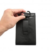 Univerzális övre fűzhető tok maximum 6.3 inches készülékekhez - FEKETE