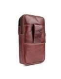 Univerzális övre fűzhető bőrtok maximum 6.3 inches készülékekhez - BARNA