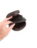 Univerzális övre fűzhető bőrtok karpánttal maximum 6.3 inches készülékekhez - FEKETE