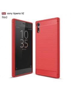 Sony Xperia XZs / XZ karbon mintás tok - PIROS