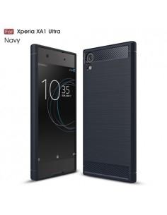 Sony Xperia XA1 Ultra karbon mintás tok - KÉK