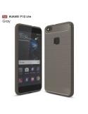 Huawei P10 Lite karbon mintás tok - SZÜRKE